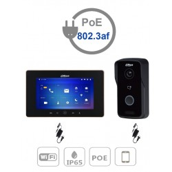 "VTO2111DWPAK - Kit Videoportero IP : Monitor 7"" VTH5521D-S2 WiFi + Frente de Calle VTO2111DWP / P2P / 1 MP"