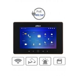 VTH5221DS2 - Monitor IP Touch 7 pulgadas / WiFi y Ethernet / PoE 802.3af / Ranura Micro SD / Hasta 20 Frentes de Calle