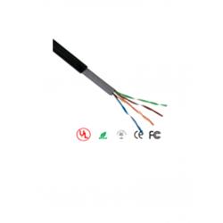 OUTP5ECCAEXT - Bobina de Cable UTP de 100 m Cat 5e / CCA / Color Negro / Para Exterior