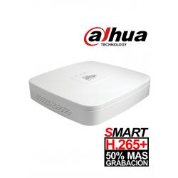 XVR4108CBX1 - DVR 1080P Lite / H.265+ / Pentahibrido / 8 Canales HD + 2 Canales IP / 1 Bahía HDD / Smart Audio HDCVI / P2P