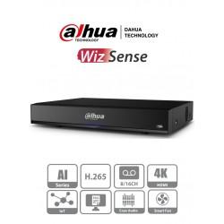 XVR7116HE4KLI - DVR 4K / WizSense / H.265+ / 16 CH HD + 16 CH IP / 2 CH Rec. Facial / SMD Plus / IoT & POS / AUDIO y ALARMA