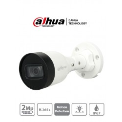 IPCHFW1230S1S4 - Cámara IP Bala 2 MP /  H.265+ / 20 FPS / Lente 2.8 mm / IR 30 mts / IP67 / PoE / dWDR