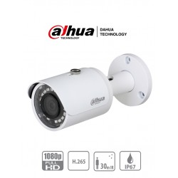 IPCHFW1230SS4 - Cámara IP Bala 2 MP /  H.265+ / 30 FPS / Lente 2.8 mm / IR 30 mts / IP67 / PoE / dWDR