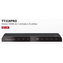 TT318PRO - Divisor HDMI / 1 Entrada / 8 Salidas / Resolución Hasta 4K x 2K