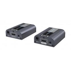 TT672 - Kit Extensor Ultra HD HDMI / Hasta 60 mts. con Cable Cat 6 / 4K @ 60 Hz / con IR