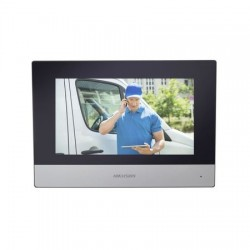 """DSKH6320WTE1 - Monitor IP Touch Screen 7"""" / WiFi y Ethernet / PoE 802.3af / Ranura Micro SD"""