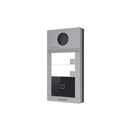 DSKV8213WME1 - Videoportero IP / WiFi / 2 MP / H.264 / PoE / Apertura desde App Hik-Connect / IP65 / IK08 / 2 Departamentos