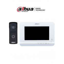 """KTA01 - Kit Videoportero Analógico: Monitor 7"""" VTH2020DW + Frente de Calle VTO2010D con Cámara 2 MP"""