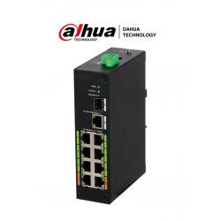 LR21108ET120 - Switch ePoE 8 Puertos / 1 Puerto UpLink SFP / 1 Puerto Gigabit / 802.3af y at / Hi PoE / ePoE / 120 Watts
