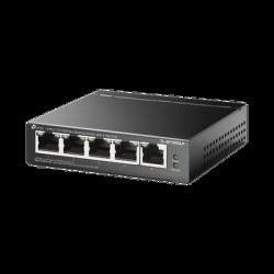 TLSF1005LP - Switch PoE 4 Puertos / 1 Puerto LAN / 802.11af / Modo Prioridad / 41 Watts
