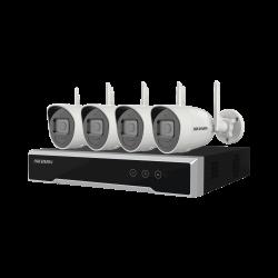 NK42W0H1T(WD)(D) - Kit IP Inalámbrico WiFi 1080p / NVR 4 Canales / 4 Cámaras Bala / 1 HDD  de 1 TB / Modo Repetidor