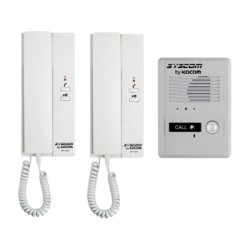 KDP-602-A/D - Kit de Audioportero: 2 Interfones + Frente de Calle