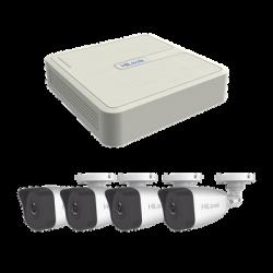 KIP2MP4B - Kit IP 1080p / NVR 4 Canales PoE+ / 4 Cámaras IP Bala