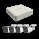 KIP4MP4B - KIT IP 4 Megapixel / NVR 4 Canales PoE+ / 4 Cámaras IP Bala