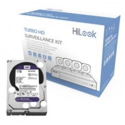 HL24LQKITSM1TB - Kit TurboHD 1080p / DVR 4 Canales / 4 Cámaras Bala / 4 Cables 18 Mts / 1 Fuente de Poder / 1 HDD  de 1 TB