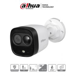 ME1200D - Cámara Bala HDCVI 2 MP / Disuasión Activa / Lente 2.8 mm / IR 20 Mts / Sirena y Luz Blanca / Micrófono / PIR / IP67