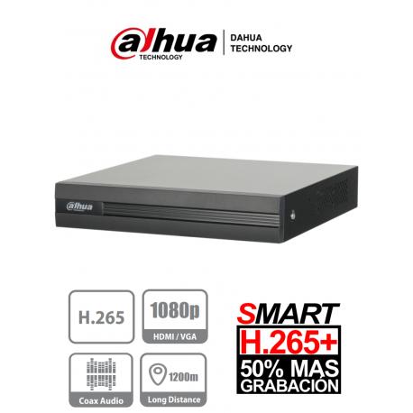 XVR1B04 - DVR 1080P Lite / H.265+ / Pentahibrido / 4 Canales HD + 1 Canal IP / 1 Bahía HDD / Smart Audio HDCVI / P2P