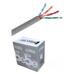 OUTP5ECCA100G - Bobina de Cable UTP de 100 m / Cat 5e / CCA / Color GRIS / Para Interior
