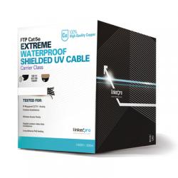 PRO-CAT-5-EXT-LITEW - Bobina de Cable UTP de 305 m (1000 ft) Cat 5e / SIN Blindar / Cable 100% Cobre / Color BLANCO / Exterior