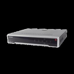 DS-7732NI-I4/16P - NVR 12 Megapixel (4K) / 32 Canales IP /16 Ptos. PoE+ / 4 Bahías HDD / PoE 300 mts / HDMI 4K / Soporta POS