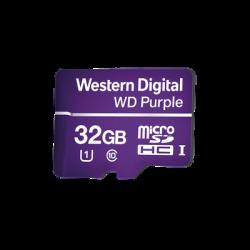 WDD032G1P0A - Memoria microSD 32GB WD PURPLE / Especializada Para Videovigilancia / 3 Veces Mayor Duración