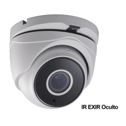 E8-TURBO-VZ - Cámara Eyeball TurboD 1080p / Lente Mot. 2.8 a 12 mm / METALICA / IR EXIR 40 mts / Exterior IP66 / WDR 120 dB