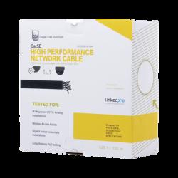 EP-CAT-5E-V2/100M - Bobina de Cable UTP de 100 m (328 ft) Cat 5e / Aleación Cobre y Aluminio (CCA) / Color Gris / Uso Interior