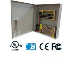 PSU1210D9 - Fuente de Poder Regulada 12 VCD / 10 Amperes / 9 Salidas / 1.1 Amp. por Canal