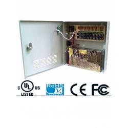 PSU1220D18 - Fuente de Poder Regulada 12 VCD / 20 Amperes / 18 Salidas / 1.1 Amp. por Canal