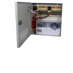 PSU1230D18 - Fuente de Poder Regulada 12 VCD / 30 Amperes / 18 Salidas / 1.65 Amp. por Canal