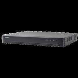 EV4016-TURBO-X - DVR 4 Megapixel / 16 Canales TURBOHD + 8 Canales IP / H.265+ / 1 Canal de Audio / Audio por Coaxitron