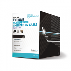 PROCAT6EXT/500 - Bobina de Cable FTP de 152 m (500 ft) Cat 6+ / Blindado / Cable 100% Cobre / Color Negro / Uso Exterior