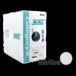 NUC6C04IGC - Bobina de Cable UTP de 305 m Cat 6 / Cobre / Color GRIS CLARO / NetKey / PVC (CM) / 24 AWG