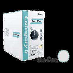 NUR6C04IGC - Bobina de Cable UTP de 305 m Cat 6 / Cobre / Color GRIS CLARO / NetKey / Riser (CMR) / 24 AWG