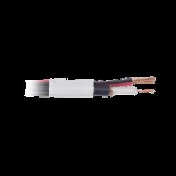 PRORG59VBW - Cable Coaxial RG59 Siamés / Bobina de 152 M / CCA / Par Eléctrico Calibre 18 / Color Blanco
