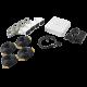 KIT7204BP - KIT TurboHD 720p / DVR 4 Canales / 4 Cámaras Bala de Policarbonato / 4 Cables 18 Mts / 1 Fuente de Poder